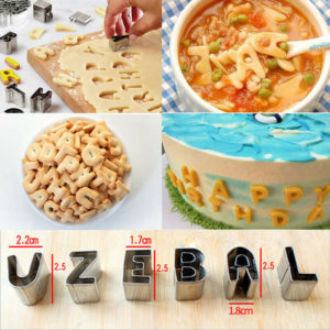 26 Pcs Alphabets Letter Characters fondant Cookies cutters – Stainless Steel