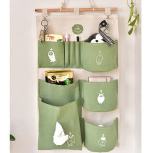 6 Pocket Home Wall Hanging Storage Bag
