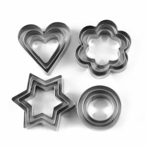12 pcs/set Stainless Steel Cookie Cutter
