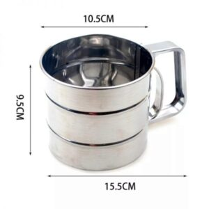 Flour Sifter One-Handed , Stainless Steel Flour/ Icing Sugar Sifter