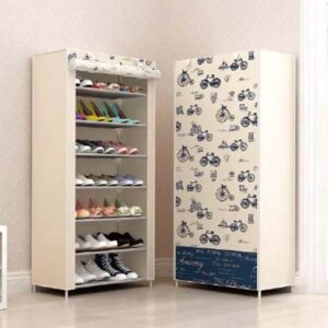 Portable Shoe Organizer Rack With Waterproof Cover 7 level
