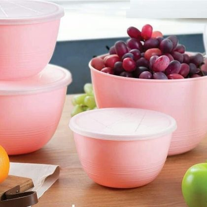 4 Pieces Plastic Bowls Set